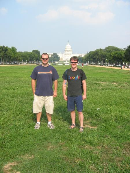 Andrew + Kevin in front of the Capitol