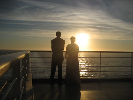 Jenny and Anthony in the sunset
